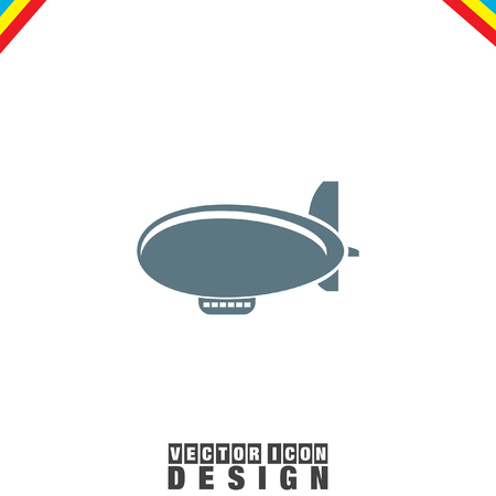 luftschiff: Airship Zeppelin-Vektor-Symbol Illustration