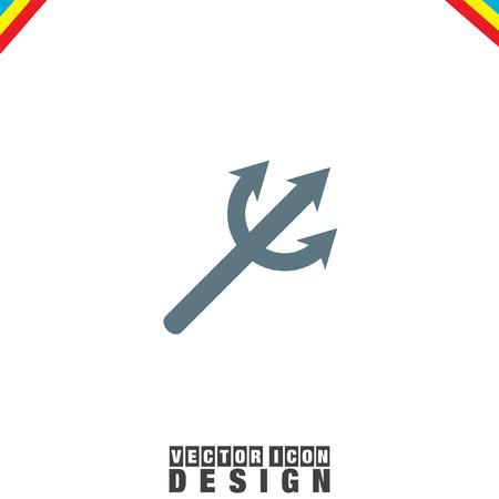 devil's: Devils Trident vector icon