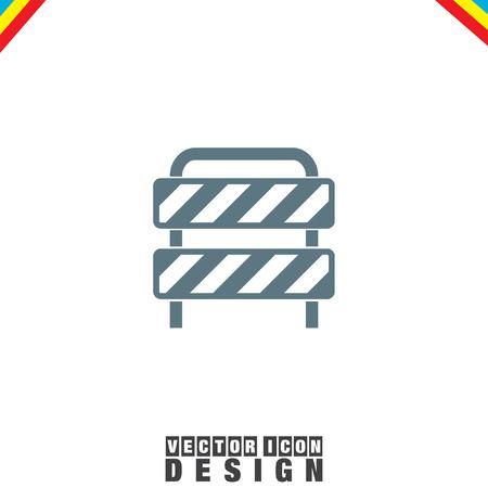 traffic barricade: Barrier vector icon Illustration