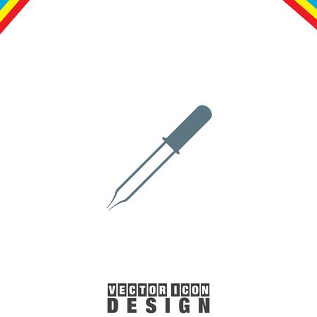 pipeta: Pipeta de iconos de vectores
