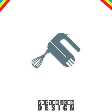 beater: Trituradora de mezclador de la cocina del vector del icono Vectores