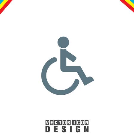 accessible: Wheelchair vector icon