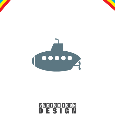 periscope: Submarine vector icon Illustration