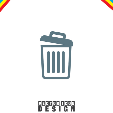 Recycle Bin icon empty Illustration