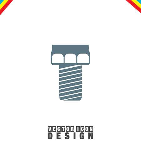 steel industry: Screw vector icon