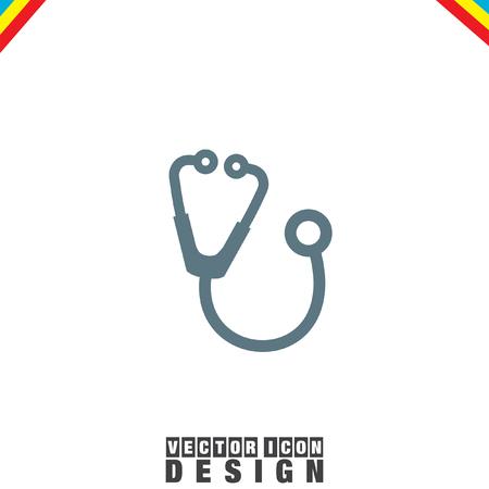diagnose: Stethoscope vector icon Illustration
