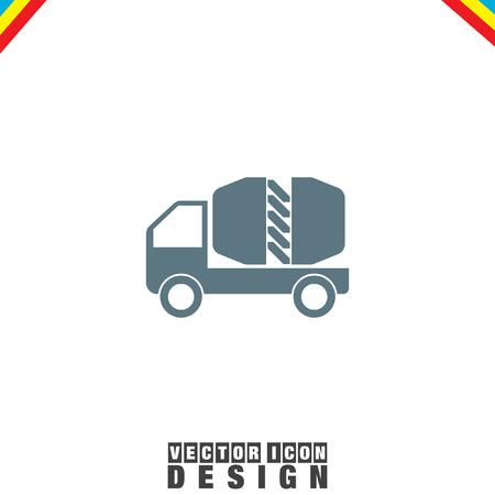 heavy construction: Cement Truck vector icon