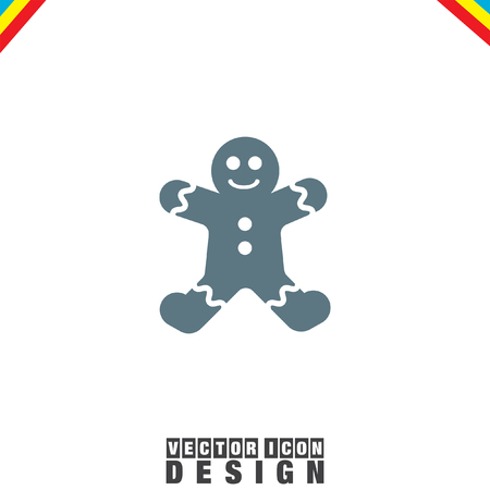 gingerbread: Gingerbread vector icon