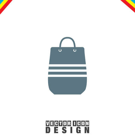 bag icon: Shopping Bag vector icon Illustration