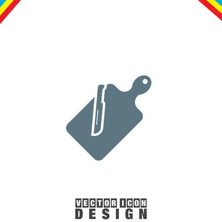 cutting board: Cutting Board vector icon Illustration