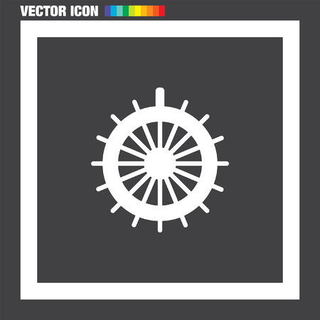 Steuerruder: Rudder Vektor-Symbol Illustration