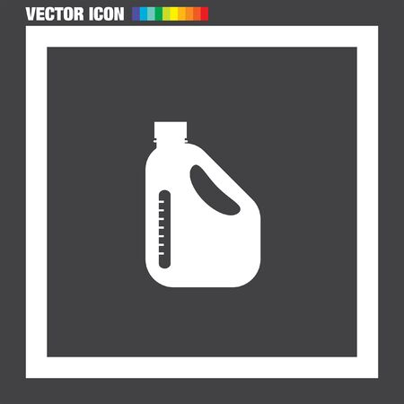 benzine: Oil Can vector icon Illustration
