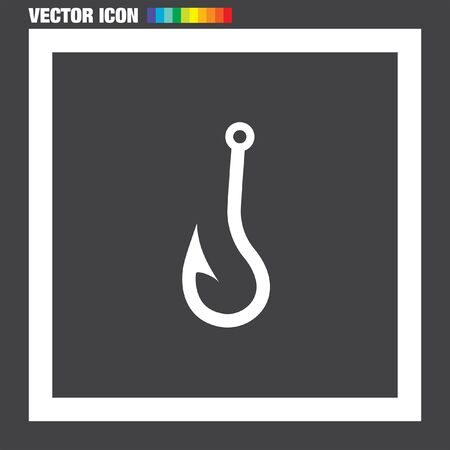 fishhook: Fishing Hook vector icon Illustration