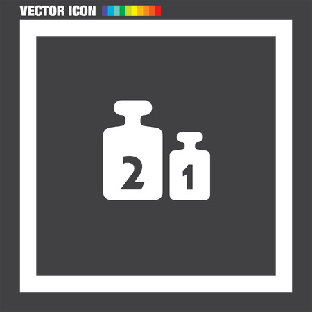 Weight for Scales vector icon Stock Vector - 54830133
