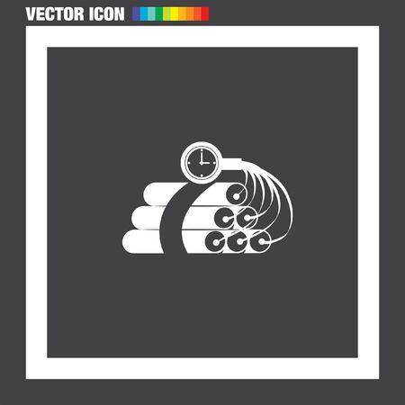 dinamita: Tiempo dinamita icono Bomba del vector