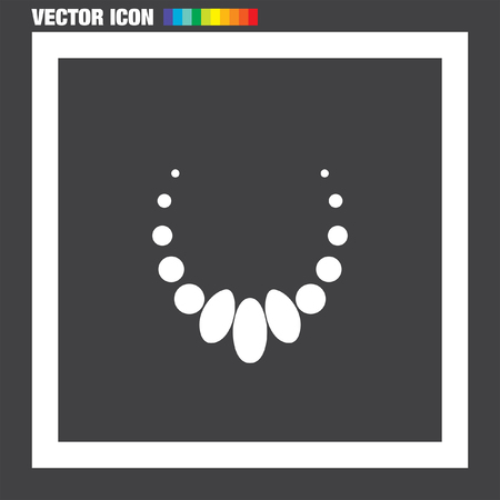 peal: Necklace vector icon