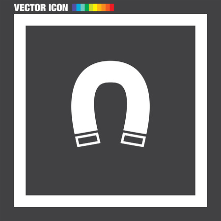 the magnet: Vector icon Im�n