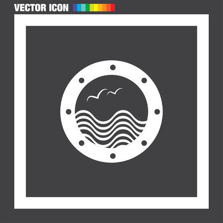 porthole window: Boat Window vector icon