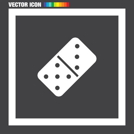 dominoes: Dominoes vector icon