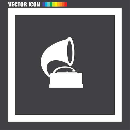 gramophone: Gramophone vector icon Illustration
