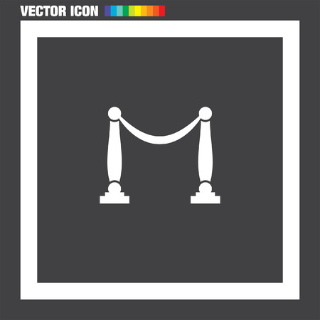 barricade: Queue Barricade vector icon