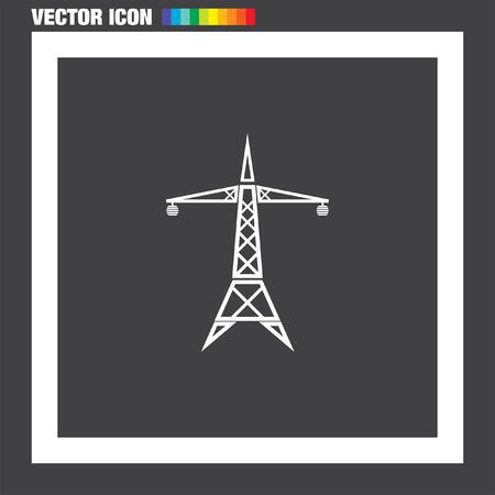 power line: Power Line vector icon Illustration