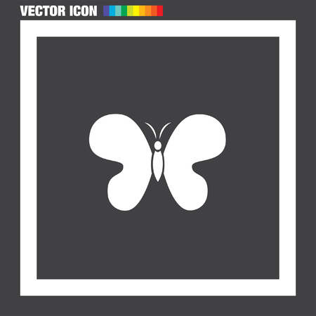 butterfly vector: Butterfly vector icon Illustration