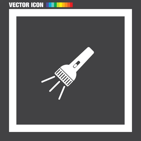 pocket flashlight: Flashlight vector icon