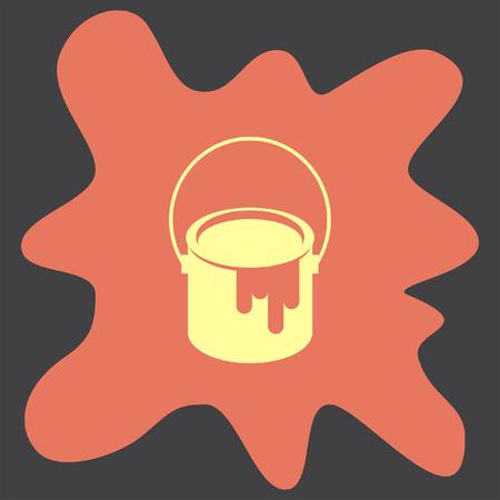 paint bucket: Paint Bucket vector icon