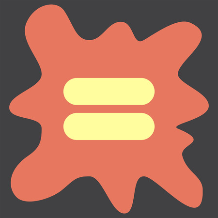 equal to: Equal Sign vector icon