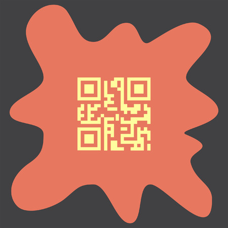 qrcode: QR Code vector icon Illustration