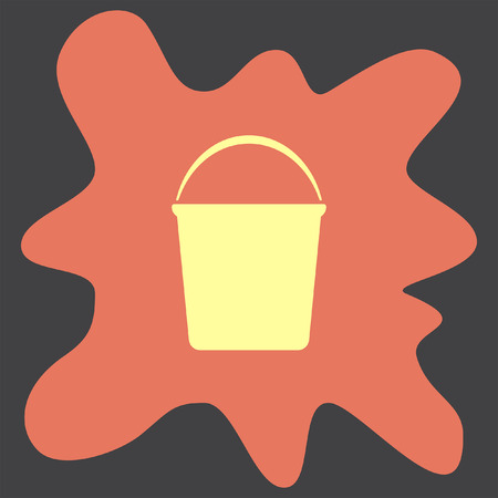 bucketful: Water Bucket vector icon Illustration