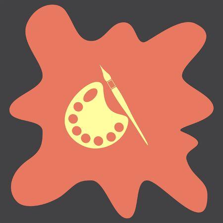 pallete: Paintbrush with Pallete vector icon