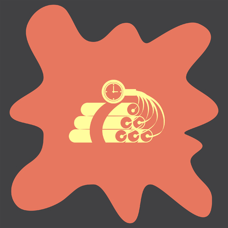 dynamite: Dynamite Time Bomb vector icon