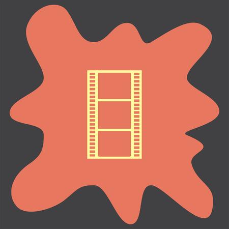 movie film: Movie Film Strip vector icon Illustration