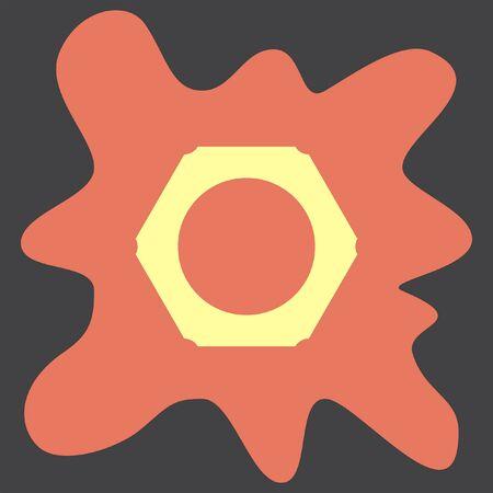 bolt head: Nut vector icon