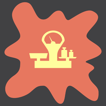 to weigh: Scales vector icon