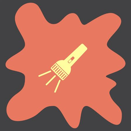 pocket flashlight: Flashlight vector icon