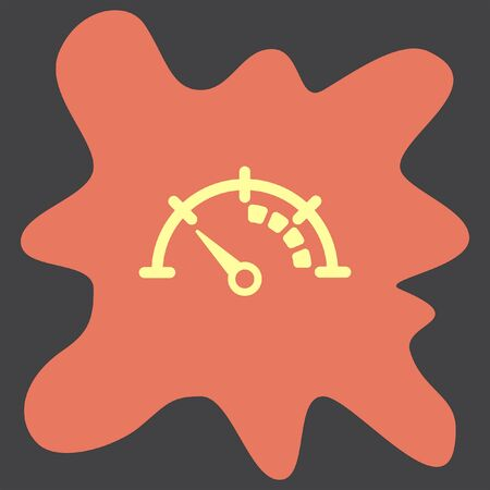 indicator panel: Speedometer icon Illustration