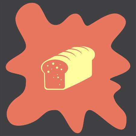 toasted bread: Toast Bread vector icon