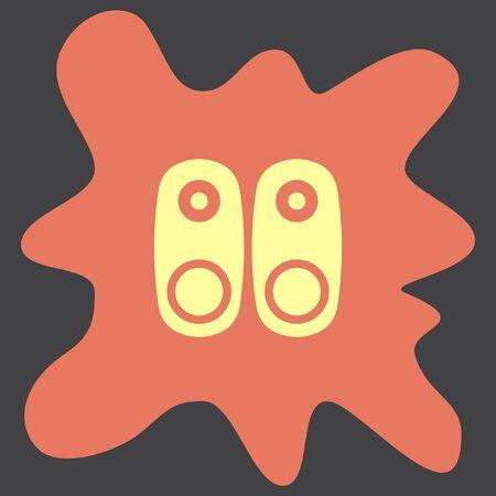 loud speakers: Audio Speakers vector icon