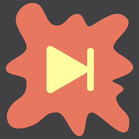 fast computer: Fast Forward Next Track button vector icon