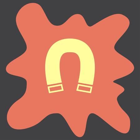polarity: Magnet vector icon