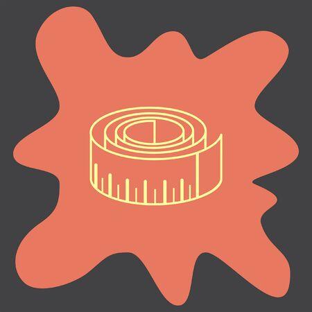 metric: Measure Tape vector icon Illustration