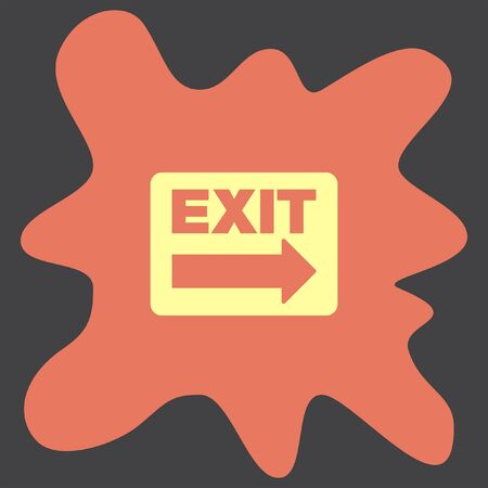 exit: Exit Sign vector icon