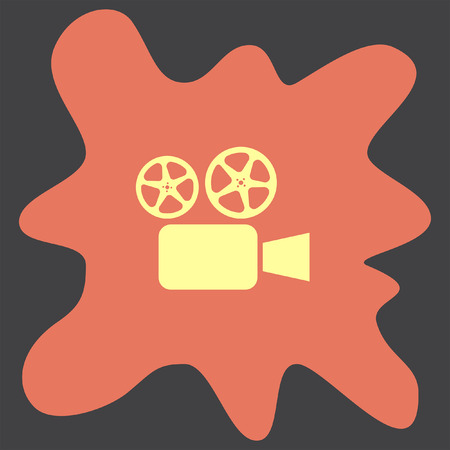tripod projector: Movie Camera vector icon Illustration