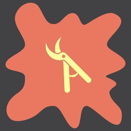 pruning: Garden Pruner vector icon Illustration