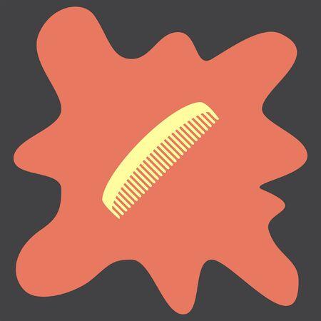 comb: Comb vector icon Illustration