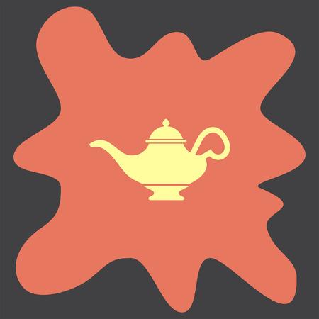 lampara magica: icono del vector de la l�mpara m�gica