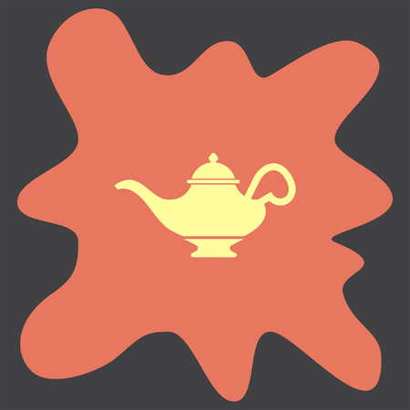 magic lamp: Magic Lamp vector icon Illustration
